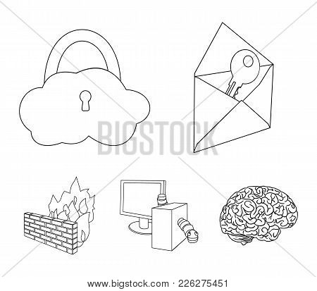 System, Internet, Connection, Code .hackers And Hacking Set Collection Icons In Outline Style Vector