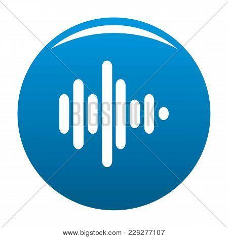 Sound Wave Icon Vector Blue Circle Isolated On White Background