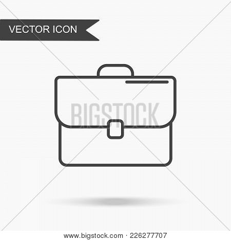 Modern And Simple Vector Illustration Icon Portfolios, Diplomat. Flat Image With Thin Lines For Appl