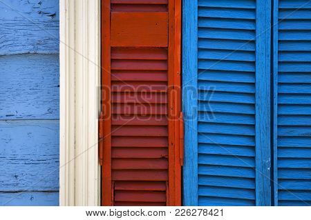Detail From Colorful Facade From Caminito In La Boca, Buenos Aires, Argentina