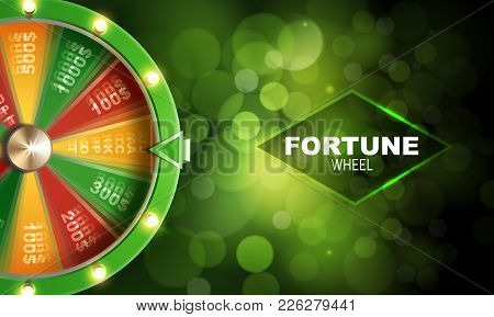 Wheel Of Fortune Abstract Gambling Background Or Banner