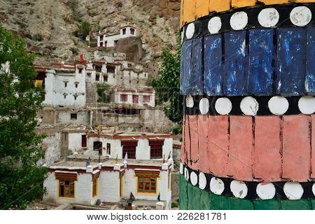 Buddhist Monastery In The Hemis Village In Ladakh In India