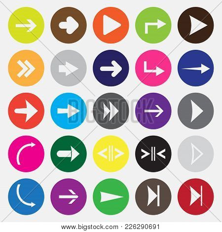 Arrows Icon Set. Vector Flat Icons For Website.