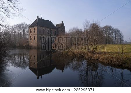 Vorden Castle In The Dutch Village With The Same Name Seen From The Surrounding Park