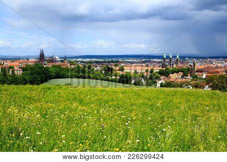 Panoramic view on Bamberg. Bavaria. Germany.
