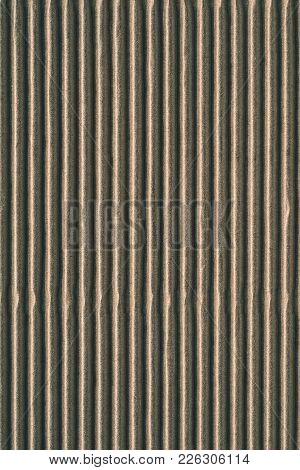 Wavy Corrugated Texture Of A Cardboard Or Paper Of Beige Silvery Color For A Background Or For Wallp