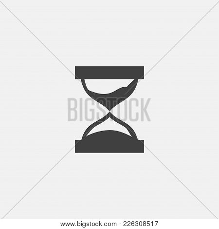 Sand Clock Icon Vector Illustration. Sand Glass Icon Vector