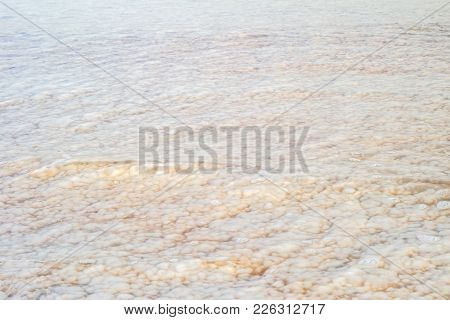 Salt In The Dead Sea Through The Water.