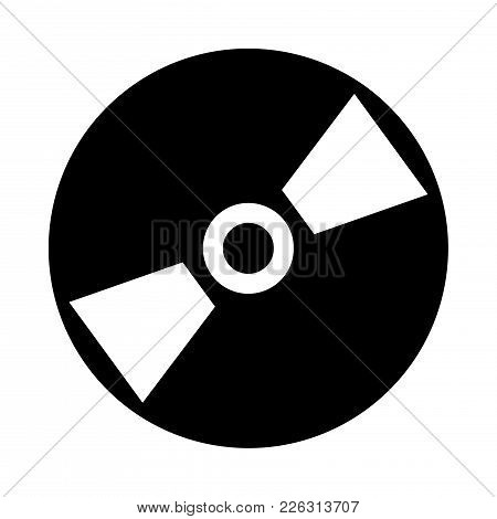 Compact Disc Icon On White Background. Vector Illustration