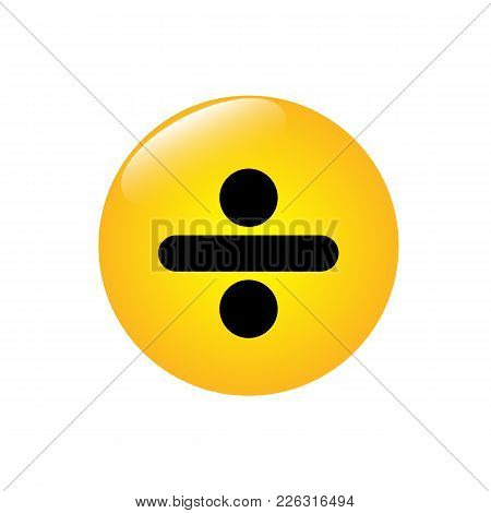 Mathematical Icon Division On The Yellow Button