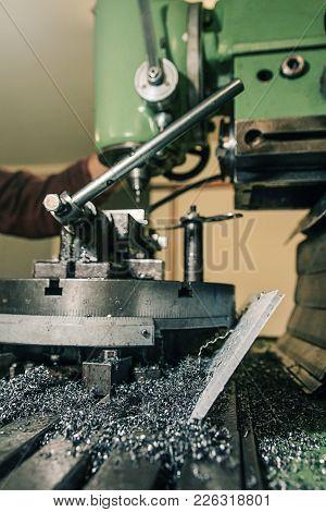 Employee Drilling. Metal Drilling. Metal Workshop. Metal Workshop.
