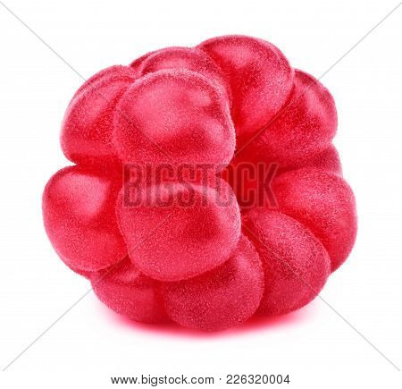 Ripe Raspberry Isolated On White Background With Clipping Path. One Of The Best Isolated Raspberries