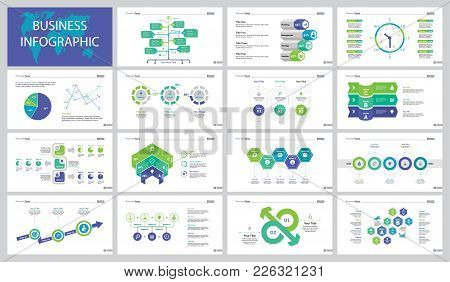 Infographic Design Set Can Be Used For Web Design, Presentation, Annual Report. Business Data Analys