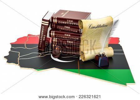 Constitution Of Libya Concept, 3d Rendering Isolated On White Background