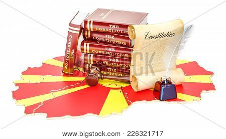 Constitution Of Macedonia Concept, 3d Rendering Isolated On White Background