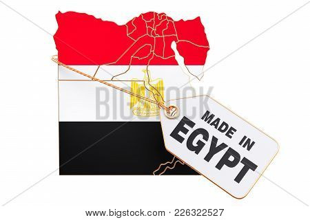 Made In Egypt Concept, 3d Rendering Isolated On White Background