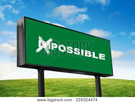 Possible Wording Close Up On The Green Billboard