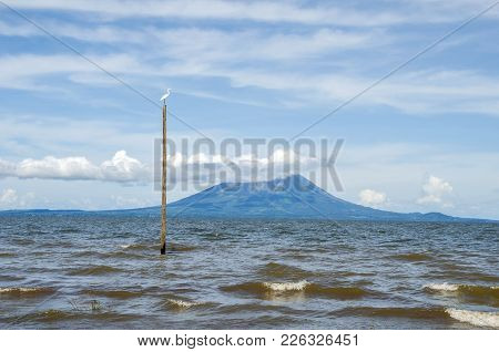 Lake Nicaragua  Or Cocibolca Or Granada,  A Freshwater Lake In Nicaragua With One Of Its Volcanic Is