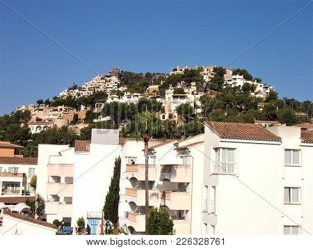 Houses On A Hill In Port Andratx, Mallorca Spain