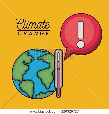 Effects Of Climate Change Vector Illustration Design