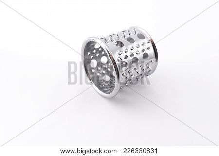 Nozzle Grater For Potato Pancakes For Grinder Isolated On White Background  For Any Purpose