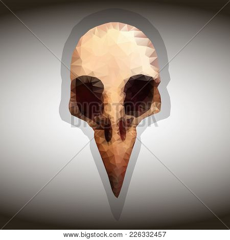 Bird S Skull. Vector Drawing In The Style Of Triangulation