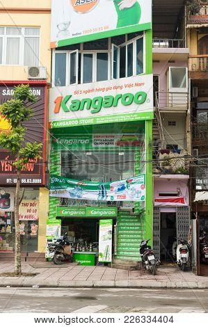 Hanoi, Vietnam - Mar 15, 2015: Kangaroo Household Store In O Cho Dua. It Is The Popular Brand Name I