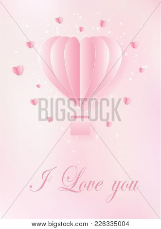 Ntines Day Abstract Background With Cut Paper Heart. Vector Illustration Eps10