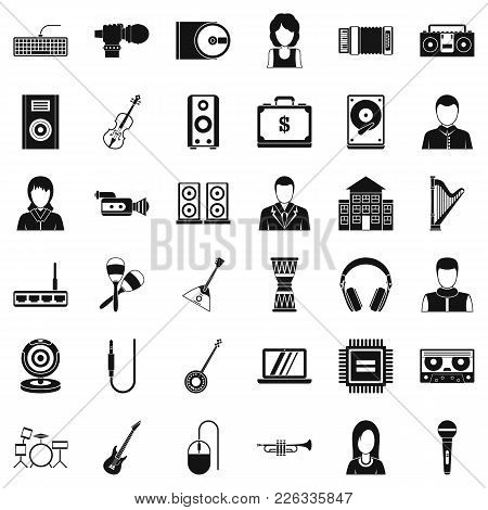 Piece Of Music Icons Set. Simple Set Of 36 Piece Of Music Vector Icons For Web Isolated On White Bac