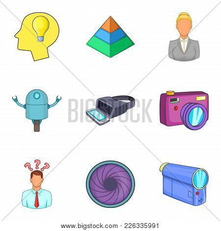 Physical Phenomenon Icons Set. Cartoon Set Of 9 Physical Phenomenon Vector Icons For Web Isolated On