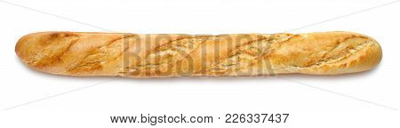 Fresh French Baguette Isolated On White Background