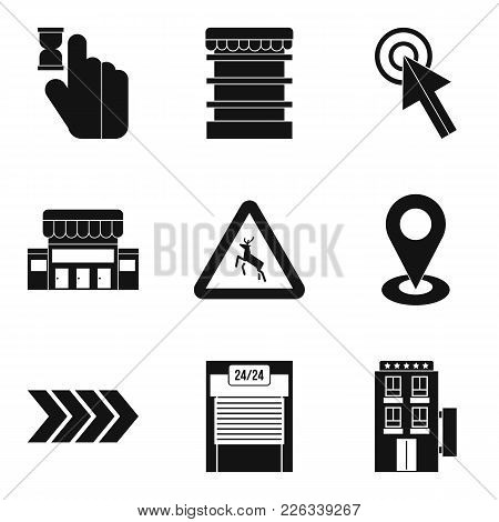 Indication Icons Set. Simple Set Of 9 Indication Vector Icons For Web Isolated On White Background