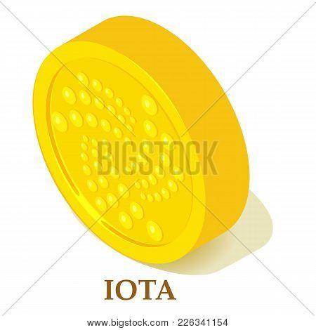 Iota Icon. Isometric Illustration Of Iota Vector Icon For Web