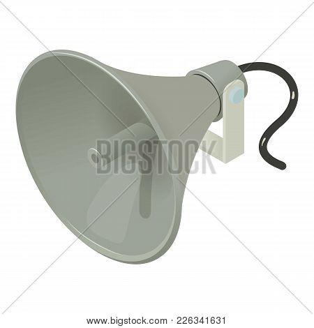 Loudspeaker Icon. Isometric Illustration Of Loudspeaker Vector Icon For Web