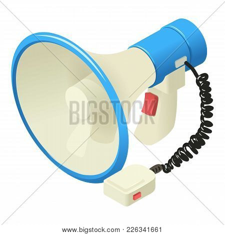 Sound Of Megaphone Icon. Isometric Illustration Of Sound Of Megaphone Vector Icon For Web