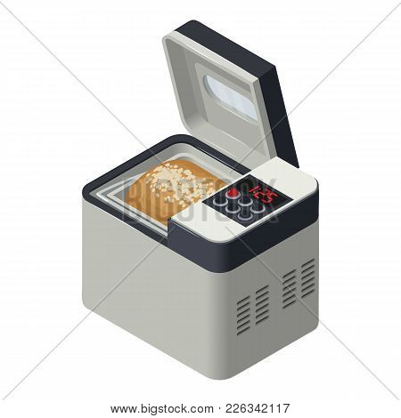 Bread Maker Icon. Isometric Illustration Of Bread Maker Vector Icon For Web
