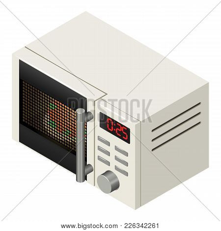 Microwave Icon. Isometric Illustration Of Microwave Vector Icon For Web