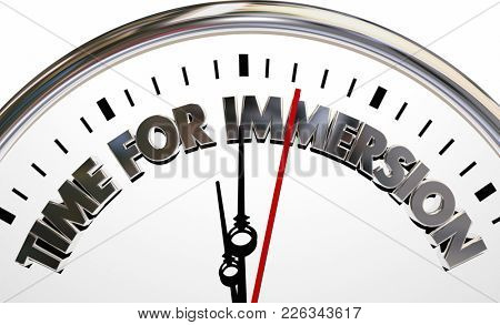 Time for Immersion Clock Total Complete Service 3d Illustration