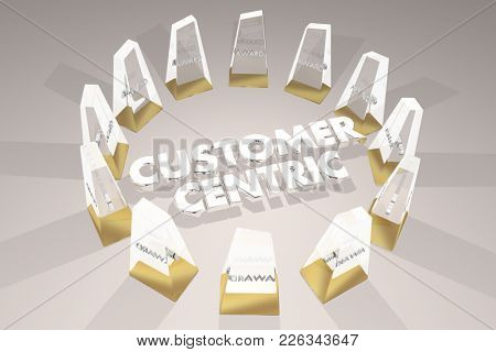 Customer Centric Awards Best Focus on Clients 3d Illustration