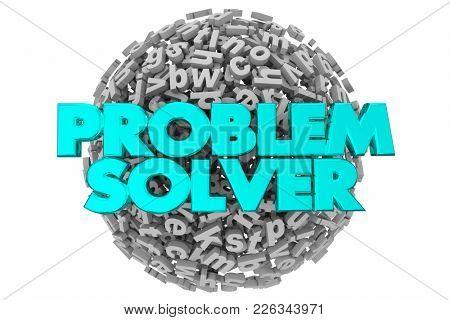 Problem Solver Letters Puzzle Challenge 3d Illustration