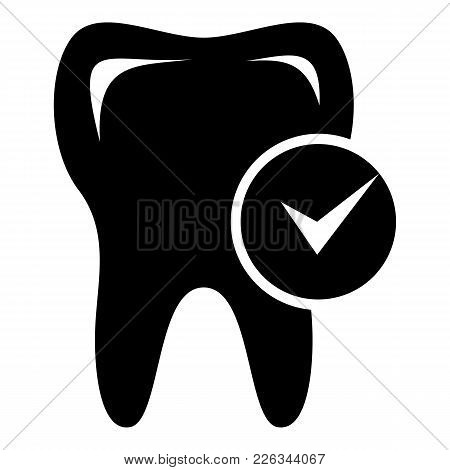Cavity Tooth Icon. Simple Illustration Of Cavity Tooth Vector Icon For Web