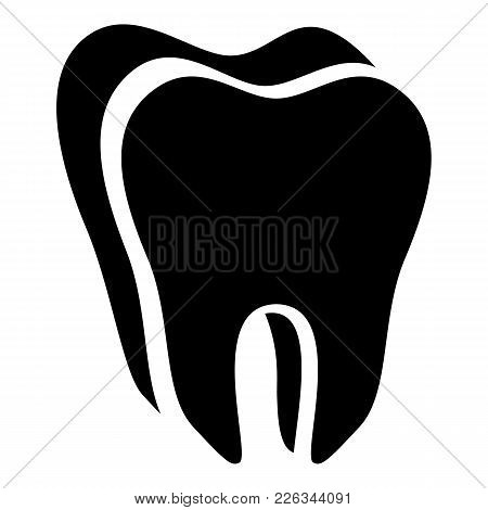 Canine Tooth Icon. Simple Illustration Of Canine Tooth Vector Icon For Web