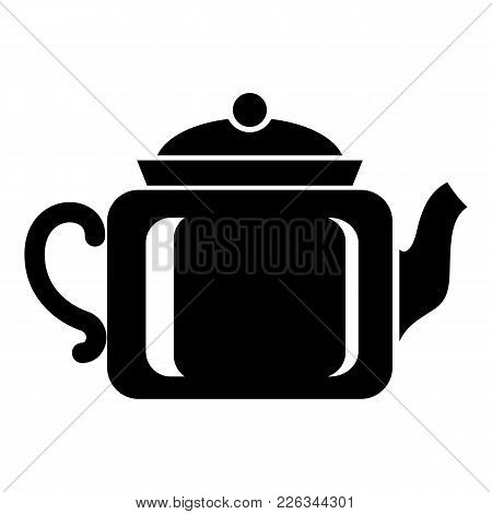 Ceramic Kettle Icon. Simple Illustration Of Ceramic Kettle Vector Icon For Web