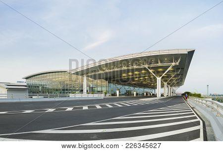 Hanoi, Vietnam - July 12, 2015: Noi Bai International Airport, The Biggest Airport In Northern Vietn