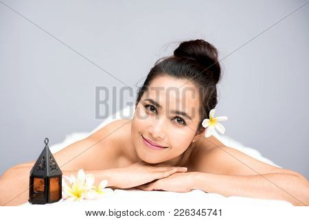Spa And Thai Massage, Beautiful Women Relaxing And Healthy Of Aromatherapy