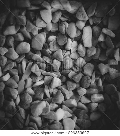 Image Of Small Pebbles And Rocks On A Grayscale