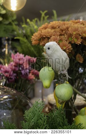 Flower Vase Decorated In Health Spa, Stock Photo