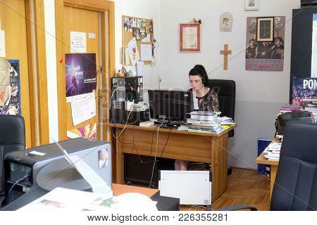 ZAGREB, CROATIA - MAY 29, 2016: Croatian Catholic Radio this year celebrated 20 years of broadcasting in Zagreb, Croatia on May 29, 2016.
