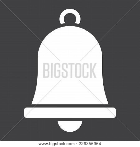 Easter Bell Glyph Icon, Easter And Holiday, Jingle Sign Vector Graphics, A Solid Pattern On A Black
