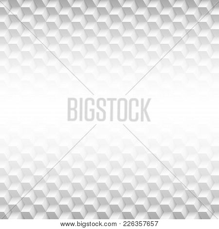 Abstract Geometric Background. Gray Texture With Shadow. Simple Background Texture. Technology Patte